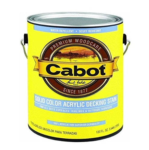 Cabot Stains 1806 Acrylic Decking Stain Exterior with Neutral Opaque Base, 1 Gallon