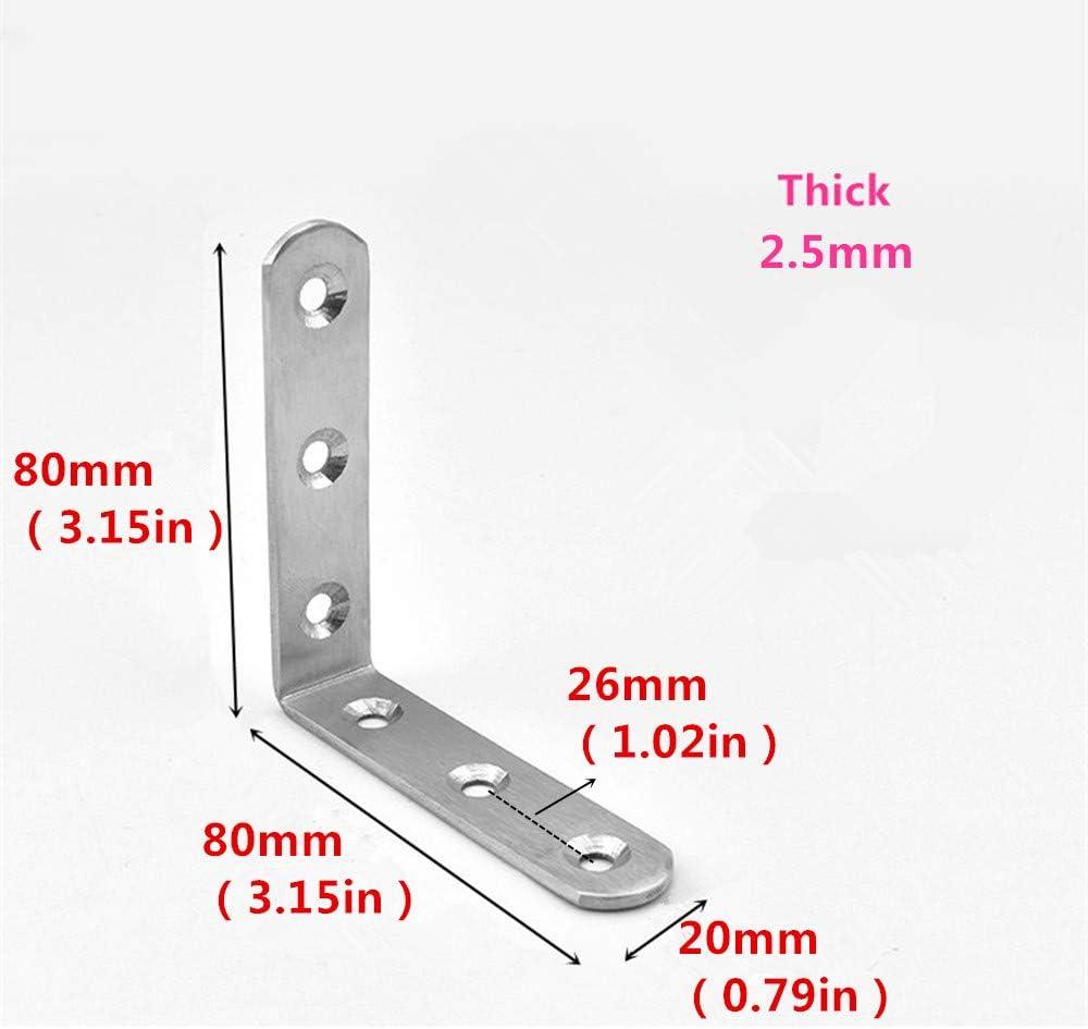 Edelstahl Eckstrebe L 90 Grad Dreiecksb/ügel Verdickungswinkel Winkel Halterung M/öbelverbinder