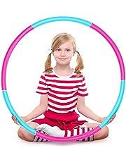 Ertisa hoelahoep, gewicht en maat Verstelbare afneembare hoelahoeps voor kinderen Sportspeelgoed Geschikt voor fitness, gymnastiek, binnen- en buitenspellen, jongens en meisjes