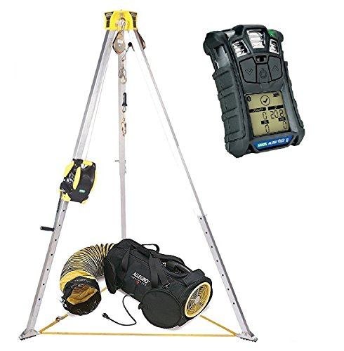 MSA Workman 8' Confined Space Kit with Aluminum Tripod and 65' Winch With Allegro Air Bag 12
