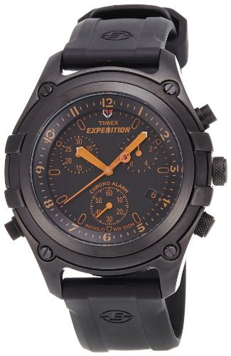 Timex Men's T497469J Expedition Trail Series Chronograph with Alarm Black on Black Watch