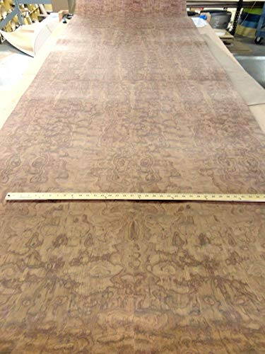 Bubinga Waterfall Figured Quilted wood veneer 48