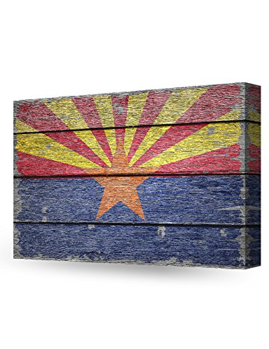 DecorArts - Arizona State Flag. Giclee Print on 100% Archival Cotton Canvas, Canvas wall art for Wall Decor 24x16'' by DECORARTS (Image #8)