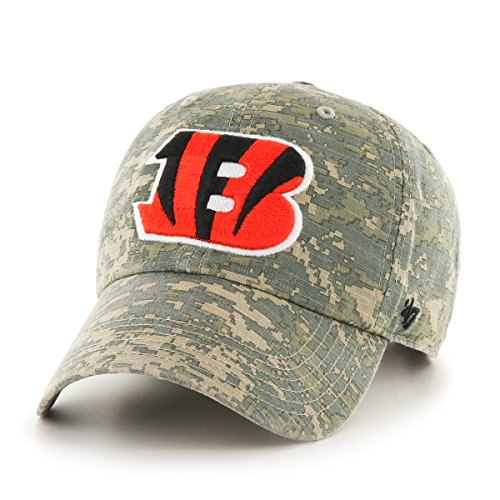 '47 NFL Cincinnati Bengals Officer Clean Up Camo Adjustable Hat, One Size Fits Most, Digital Camouflage ()