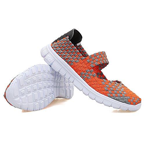 AIRAVATA Naranja Mujer Zapatillas para SH075 xwqTHg