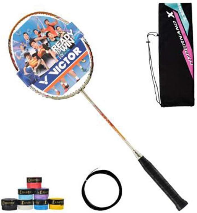 Tongboshi Nano 7sp バドミントンラケット クラシック フルタイプ 高強度カーボンファイバー バドミントンラケット シングルヘア シャンパンゴールド フェザーラインはバドミントンラケット シャンパンゴールド