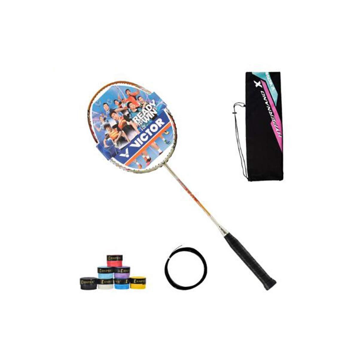 Tongboshi Nano 7sp Badminton Racket, Classic Full-Type High-Strength Carbon Fiber Badminton Racket, Single Hair, Champagne Gold, Feather Line is Not Worn Badminton Racket, (Color : Champagne Gold) by Tongboshi (Image #1)