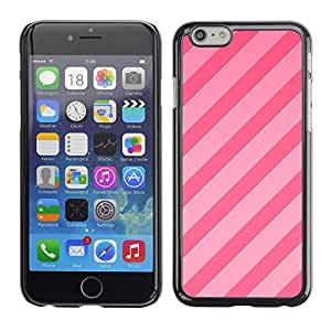 Plastic Shell Protective Case Cover || Apple iPhone 6 || Lines Parallel Pattern Fuchsia @XPTECH
