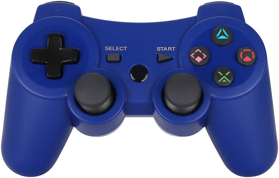 PS3 Controller Wireless - OUBANG PS3 Remote,Best DS3 Joystick Gift for Kids Bluetooth Gaming Sixaxis Control Gamepad Game Accessories for PlayStation3 with Micro Cable(Blue)