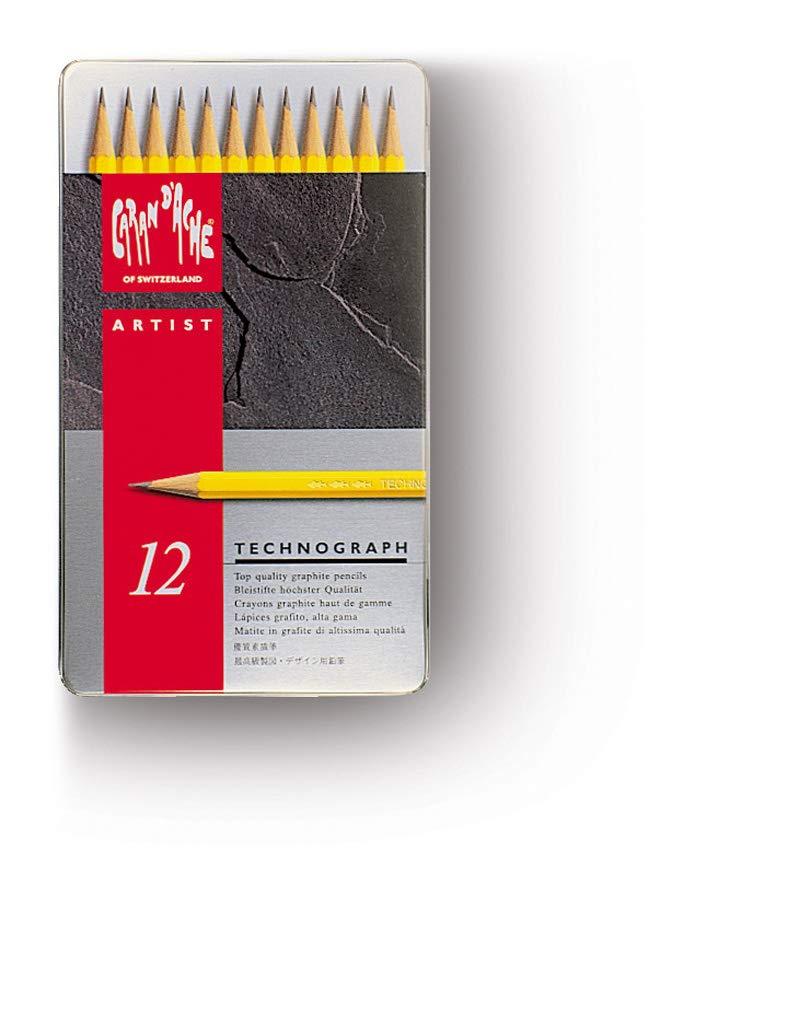 CARAN DACHE Technograph Juego de 12 lápices de grafito