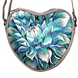 Anuschka Hand Painted Leather Small Heart Shaped Cross Body Bag (Dreamy Dahlias), Bags Central
