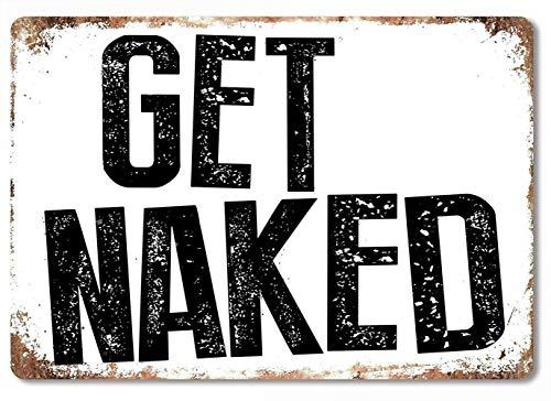 裸になる 注意看板メタル金属板レトロブリキ家の装飾プラーク警告サイン安全標識デザイン贈り物