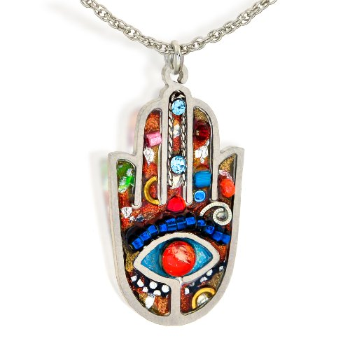 Vibrant Necklace Hamsa (Seeka Vibrant Hamsa Necklace to Protect from The Evil Eye, Curated by Artazia Collection N2412M)