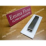 Custom Engraved 1x3 Pink Name Tag ~ Badge With Magnetic Closure | Employee Identification Plate Sign Personalized Magnet