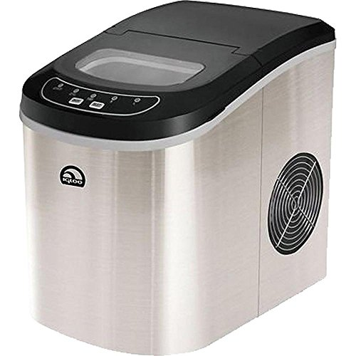 Igloo ICE102ST 26 Lb. Counter Top Ice Maker ICE102ST, Stainless Steel (Certified Refurbished)