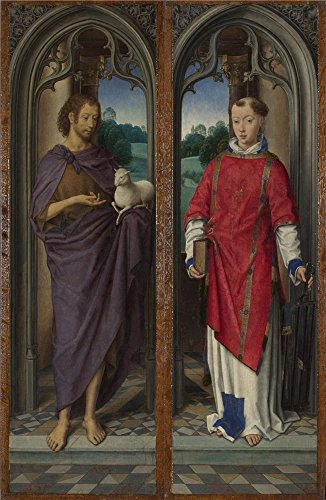 canvas-prints-of-oil-painting-hans-memling-two-panels-from-a-triptych-8-x-12-inch-20-x-31-cm-high-qu