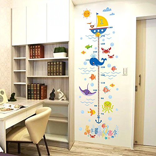 Stickers Measure (Holoras Child Height Wall Sticker, DIY Kids Growth Height Measuring Chart, Removable Wall Decal, Room Decoration for Kids Nursery Bedroom Living Room)
