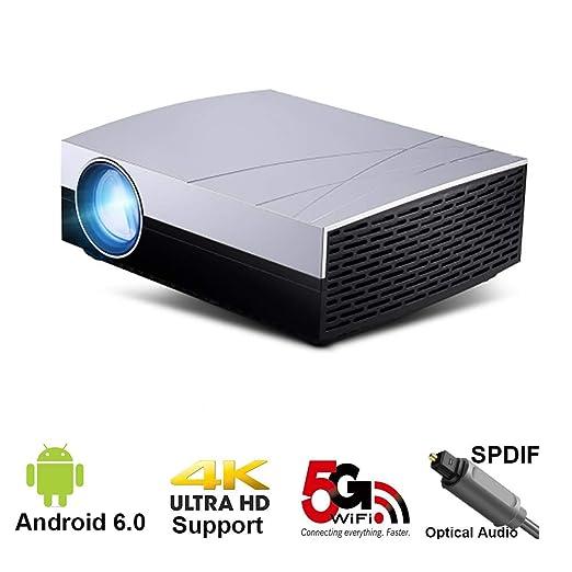 QLPP Proyector portátil 1080P 3800 lúmenes con Sistema operativo ...