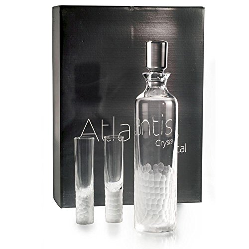 Vista Alegre Atlantis Artic Case With Vodka Decanter and 4 (Atlantis Decanter)