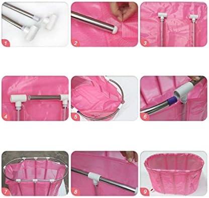 GX浴槽 デラックスダブル非膨張式折りたたみ式バスタブ/折り畳み式バスタブ/大人の浴槽/バスタブバケツ (色 : Pink)