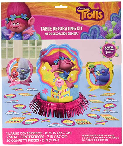 Amscan Trolls The Movie Table Decorating Kit Birthday Party Supplies, 23 pieces]()