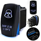 5 pin power window rocker switch - FABOOD F Waterproof 5 Pin DARK SIDE LIGHTS Rocker Switch Laser SPST ON/OFF Two LED Backlit Blue Light 20A 12V For Automotive Motorcycle Truck Boat Marine Off-Road ATV Replace Kit (with Jumper Wire)