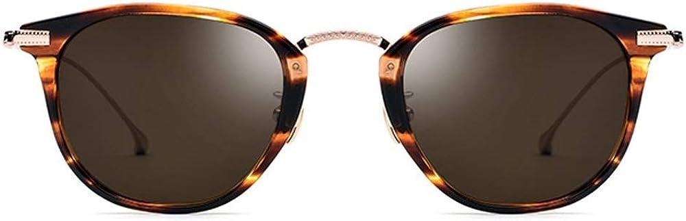 SXBag 超軽量New Bチタンメガネ男性偏光サングラス女性ヒョウフレーム乳頭レンズUV400保護 `