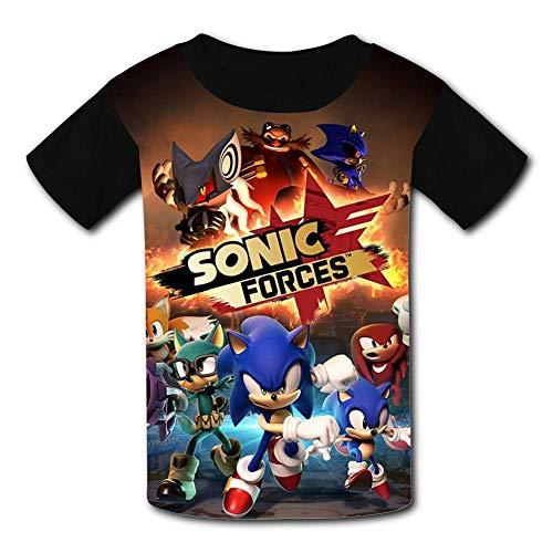 Custom So-nic Cartoon Boys Girls Teenager Tee Shirt Children Youth T-Shirts Black -