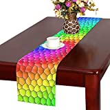 Jnseff Mosaic Color Colorful Structure Table Runner, Kitchen Dining Table Runner 16 X 72 Inch For Dinner Parties, Events, Decor