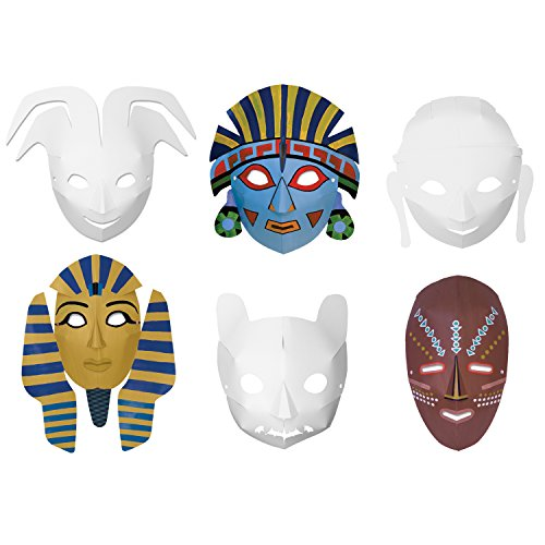 Creativity Street Multi-Cultural Dimensional Masks, Assorted Designs, 24 Pack - Stripes Paint Mask