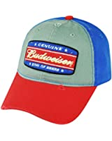 Genuine Budweiser King of Beers Snapback Hat Cap Alcohol Lager Distressed Blue