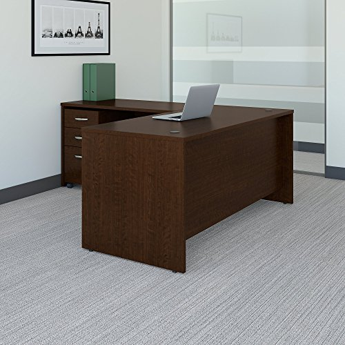 Bush Business Furniture Series C 66W L Shaped Desk with 48W Return and Mobile File Cabinet in Mocha ()