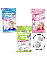 Toilet Seat Covers- Disposable XL Potty Seat Covers, Individually Wrapped by Potty Shields - Extra-Large, No Slip (Floral- 20 Pack) BOBEBE Online Baby Store From New York to Miami and Los Angeles