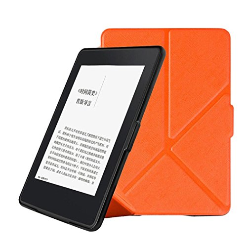 Price comparison product image Case for Kindle Paperwhite, for Amazon Kindle Paperwhite 1/2/3 6Inch,Magnetic Auto Sleep PU Leather Cover by Sunfei (Orange)