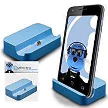 Blue Micro USB Sync & Charge / Charging Desktop Dock Stand Charger For Motorola Moto X Play 2015