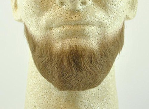 Full Chin Beard LIGHT BROWN w/ Spirit Gum- no. 2023 - REALISTIC! 100% Human Hair - Perfect for Theater and Stage ! Reusable -