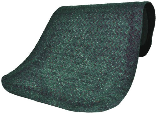 (M+A Matting 447 Forest Green Nylon Hog Heaven Plush Anti-Fatigue Mat, 3' Length x 2' Width x 7/8