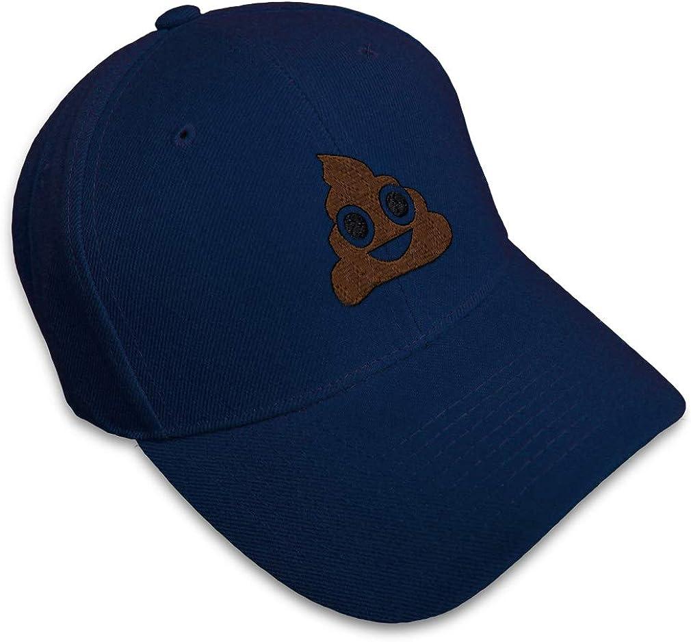Custom Baseball Cap Poop Face A Embroidery Acrylic Dad Hats for Men /& Women
