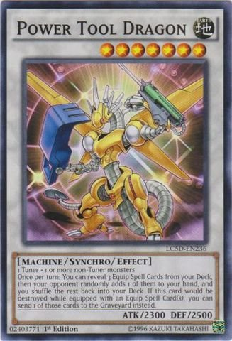 (Yu-Gi-Oh! - Power Tool Dragon (LC5D-EN236) - Legendary Collection 5D's Mega Pack - 1st Edition - Common)