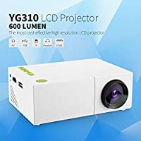 Mini Projector, Fosa Portable 1080P LED Projector for iPhone Android Smartphone HDMI Devices Home Cinema Theater Great Gift Pocket Video Projector for Party Game and Outside Camping