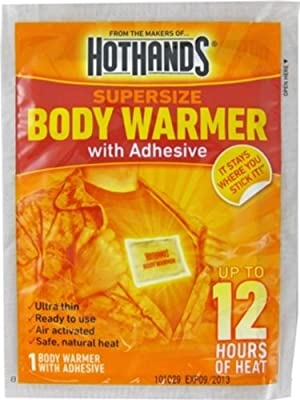 Hothands Body Warmer W/Adhsive Single