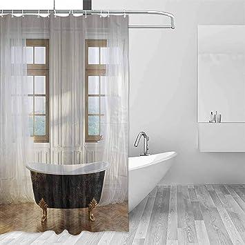 Amazon Com Homrkey Fabric Shower Curtain Antique Decor