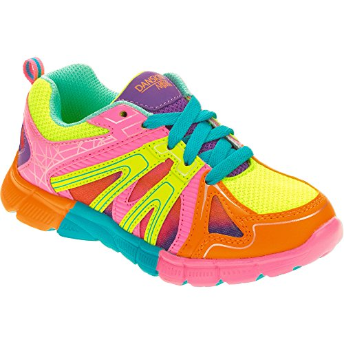 Danskin Now Girls' Fashion Athletic Shoe Multicolored Bright Orange-Yellow-Blue (13 Little Kid (Girl))