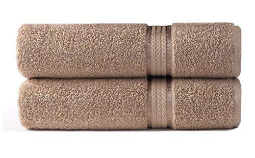 Cotton Craft – 2 Pack Ultra Soft Oversized Extra Large Bath Sheet 35×70 Linen – Weighs 33 Ounces – 100% Pure Ringspun Cotton – Luxurious Rayon Trim – Ideal for Everyday use – Easy Care Machine wash