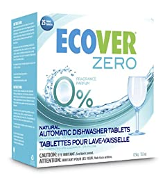 Ecover Zero Automatic Dishwasher Tablets, 17.6 Ounce -- 12 per case.