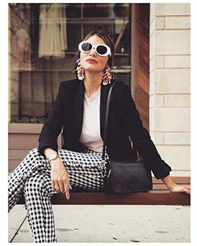 1ae490a4ea FEISEDY White Clout Goggles Kurt Cobain Sunglasses HypeBeast Oval Mod Style  B2253