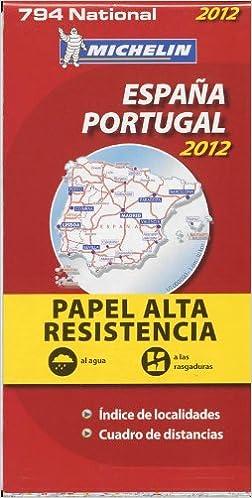 Espana Portugal Atla Residencia Mapa National 794 Michelin