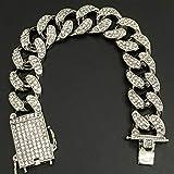 Men Watch Iced Out Cuban Hip Hop Watch &Necklace
