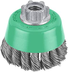 Hitachi 729201 3-Inch Twist Knot Carbon Steel Wire Cup Brush, Multi-Arbor