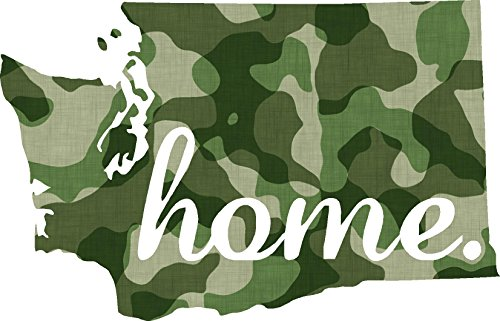 Washington #2 Home USA military camo print 4x5.4 inches america united states marine us coast guard navy seals air force pow mia color sticker state decal vinyl - Made and Shipped in USA